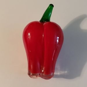 Glass Red Bell Pepper